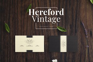 Hereford Vintage Business Card