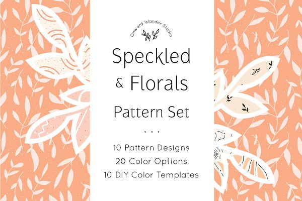 Graphic Patterns: Onward Wander Studio - Seamless Pattern Set | S.F.