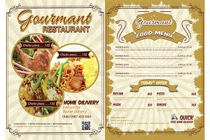 Restaurant & Menu Flyer