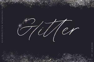 INTRO PRICE $14. Glitter Font