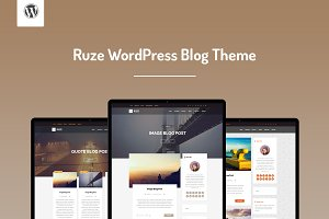 Ruze WordPress Blog Theme