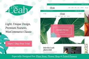Leah - Flower Shop WooCommerce Theme