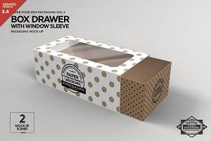 Box Window Sleeve Packaging Mockup