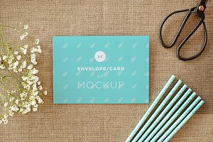 Envelope/card vol.1 -4 photo mockups