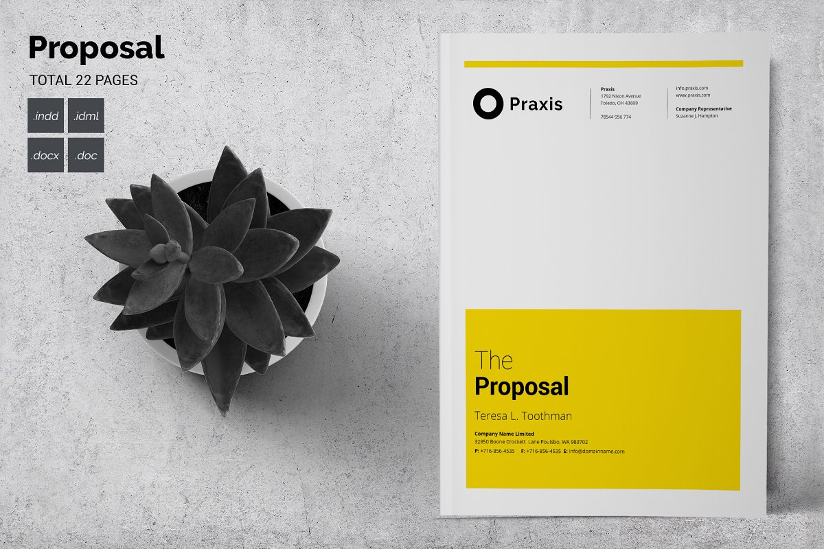 Proposal Template ~ Stationery Templates ~ Creative Market