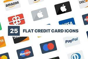 Flat Credit Card Icons