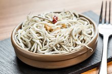 Cooked eel tapas food
