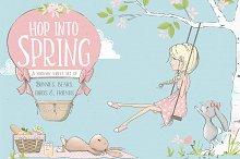 Hop Into Spring Illustration Kit