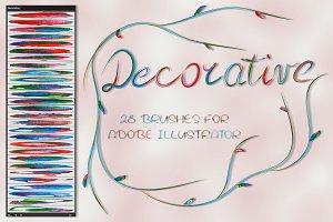 Decorative Brushes for Illustrator