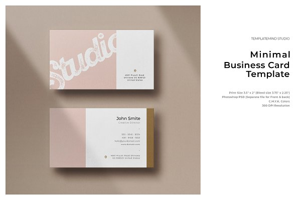Business Card Templates: Template mind - Minimal Business Card - Vol.6