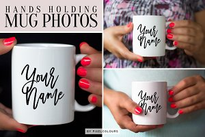 Hands Holding Mug Photo Bundle