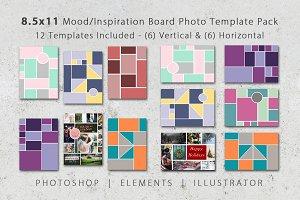 8.5x11 Mood Board Photo Templates