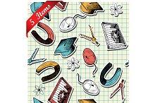 Set of 5 Seamless Education Patterns