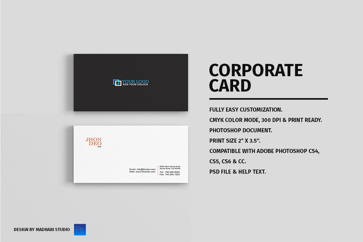 Business card vol 01 business card templates creative market reheart Gallery