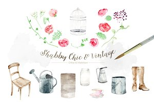 Shabby Chic Vintage Peonies
