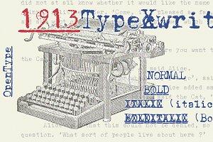 1913 Typewriter OTF (4 styles)