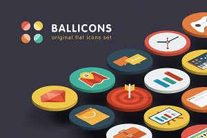Ballicons — original flat icons set