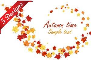Set of 5 Autumn Designs