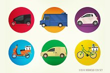 City delivery vehicles and cars