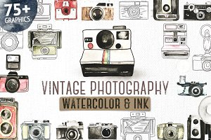 Vintage Photographer Watercolor Pack