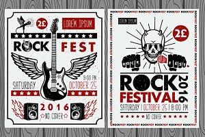 Vintage rock festival posters
