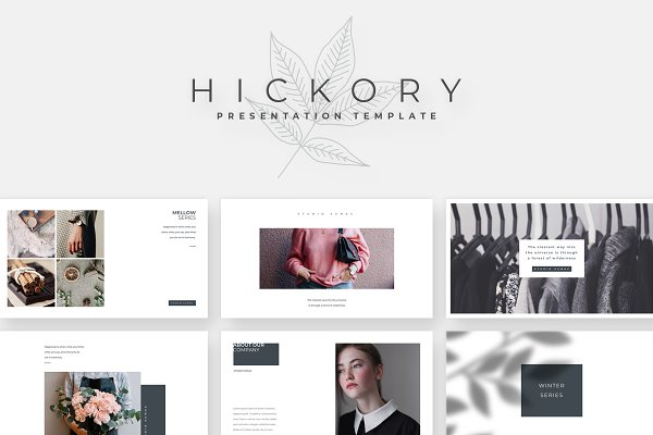 Keynote Templates: Studio Sumac - Hickory Keynote Template