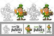 Leprechaun hold beer Engraving