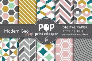 Modern Geo Vintage Digital Paper