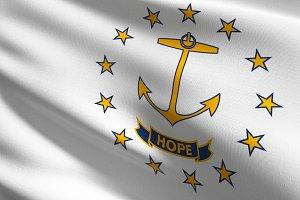 Rhode Island state flag in The Unite