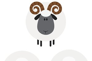 Flat Design Sheep Collection - 2