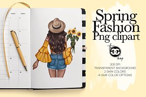Sunflower girls Png Cliparts