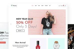 Prismy - Clean Shop WordPress Theme