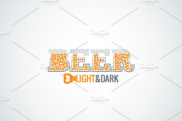 Beer glass opener design background