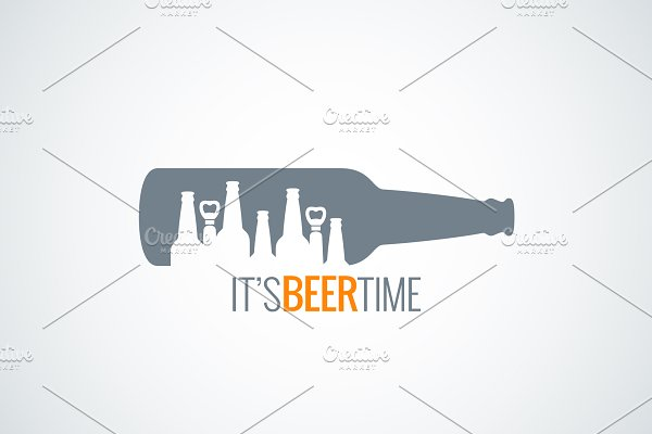 Beer bottle city concept design