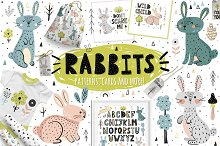 Rabbits Collection: patterns, cards