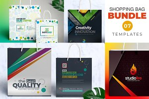 Shopping Bag Template Bundle