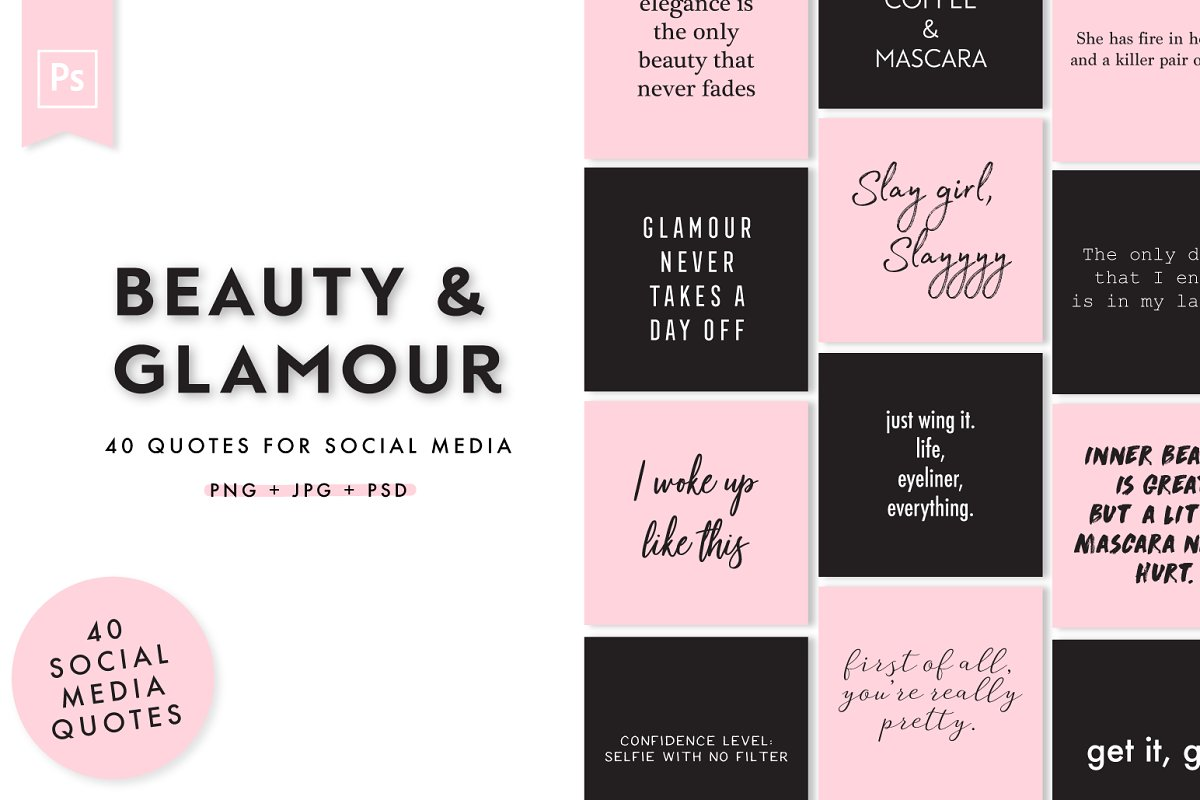 Beauty & Glamour Instagram Quotes ~ Instagram Templates ...