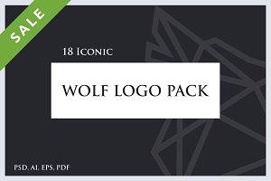 Minimalist Outline Wolf Logo Pack