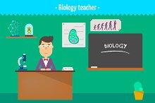 Biology teacher. Two illustrations