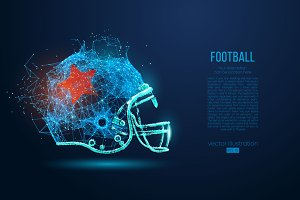 Silhouettes of a football helmet NFL