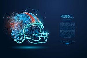 Silhouettes of a football helmet