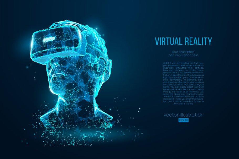 Virtual reality illustration ~ Illustrations ~ Creative Market
