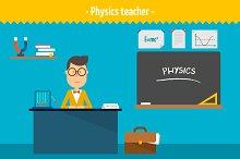 Physics teacher. Two illustrations