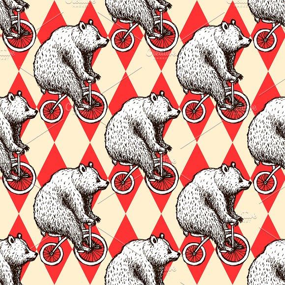 Sketch bear on a bike