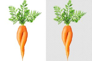 Isolated weird carrot with legs