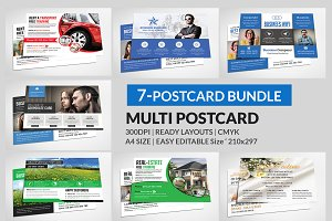 Multipurpose Business Postcard Bundl