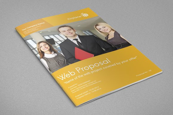 Professional Web Proposal Template in Stationery Templates - product preview 4