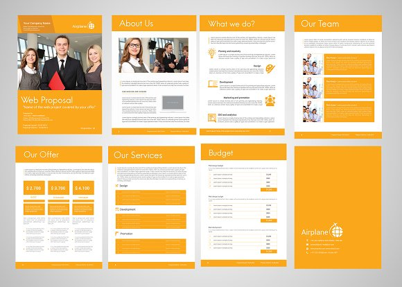 Professional Web Proposal Template in Stationery Templates - product preview 7