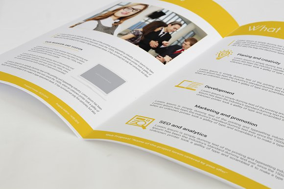 Professional Web Proposal Template in Stationery Templates - product preview 1