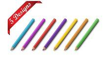5 Colorful pencils designs